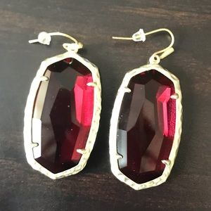 Ruby Kendra Scott Drop Earrings